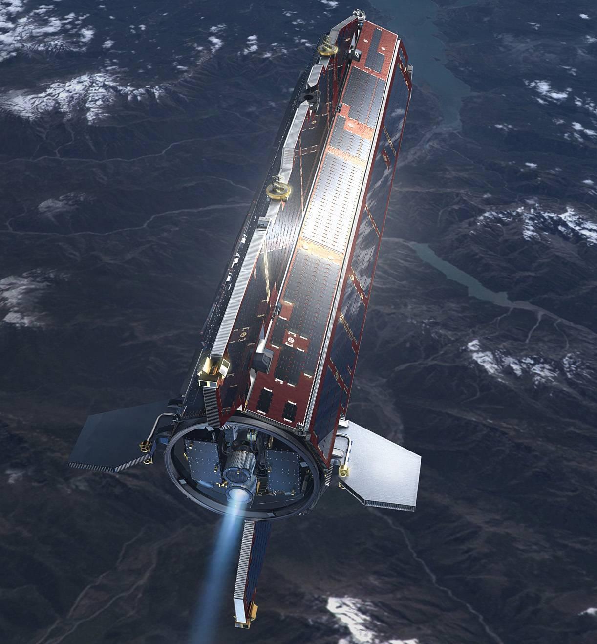 En la imagen, el satélite alrededor de la Tierra. / ESA