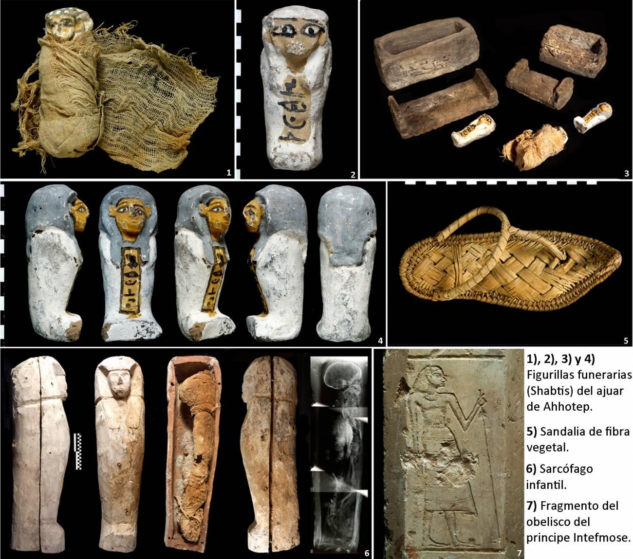Objetos y sepulcros egipcios de hace 3.550 años encontrados por el proyecto Djehuty. / CSIC