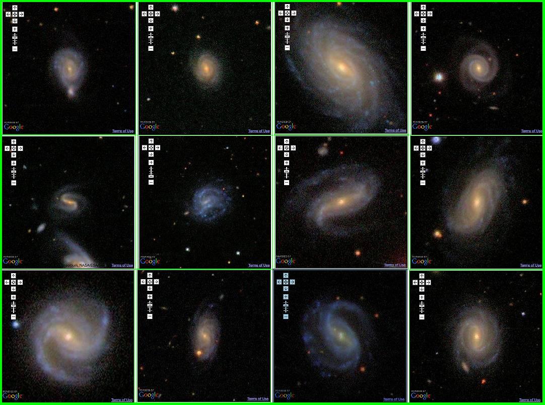 Estudian el 'zoo de las galaxias' con Google Maps y miles de voluntarios