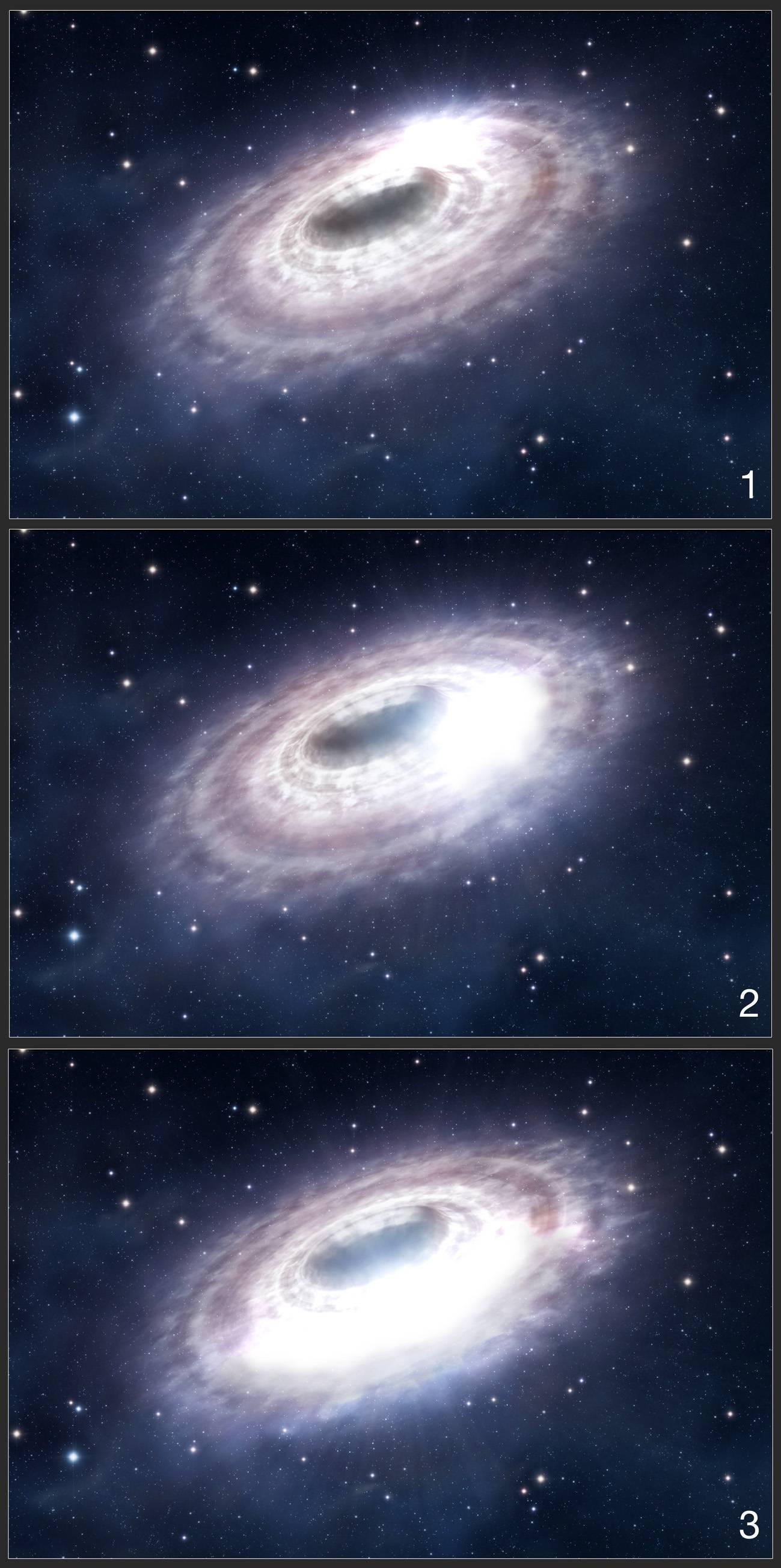 Observan cómo el agujero negro de la Vía Láctea tritura la materia a su alrededor