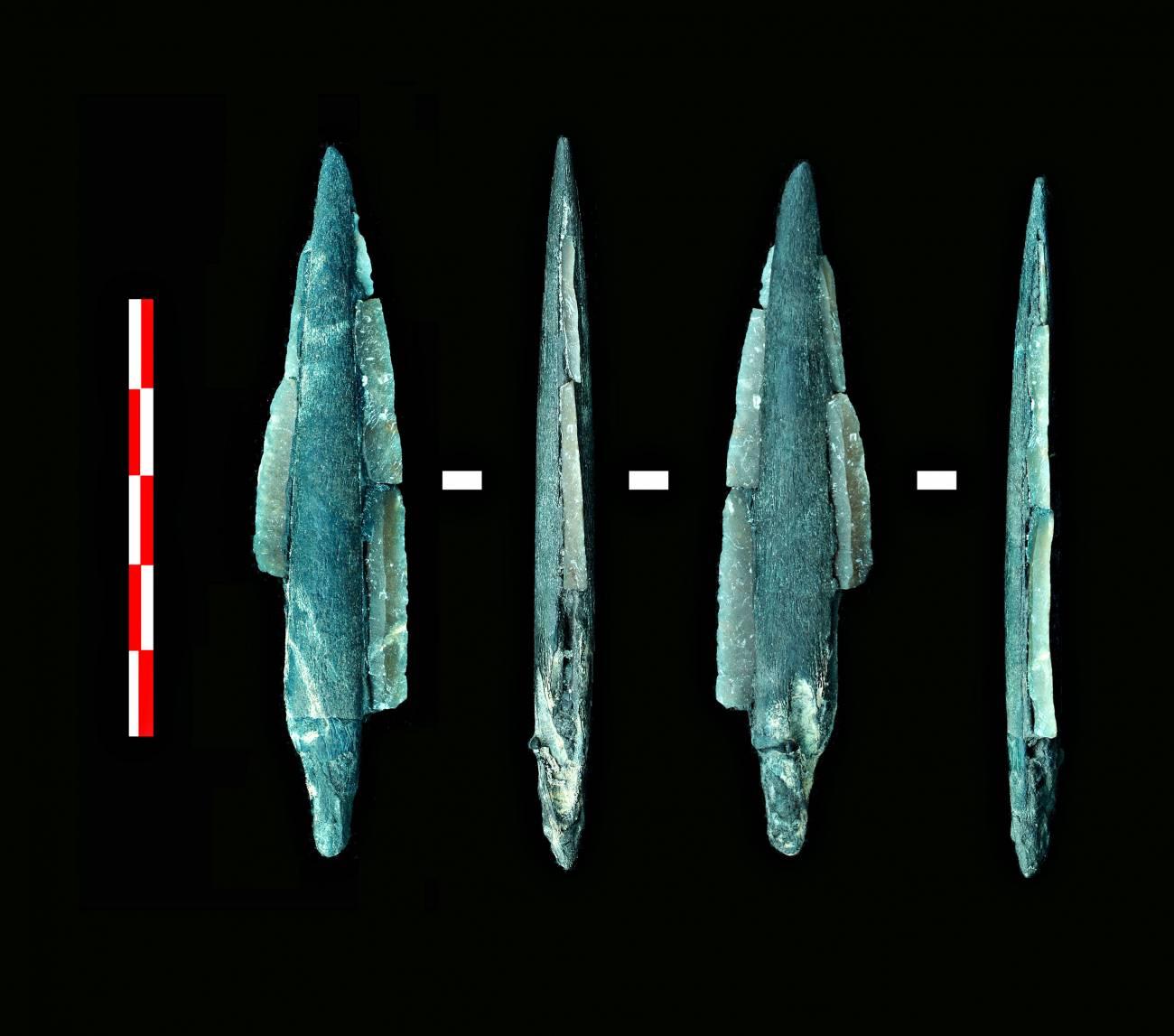 Herramientas encontradas en el yacimiento de la cuenca del río Dubná, cerca de Moscú. Imagen: Ignacio Clemente/CSIC.