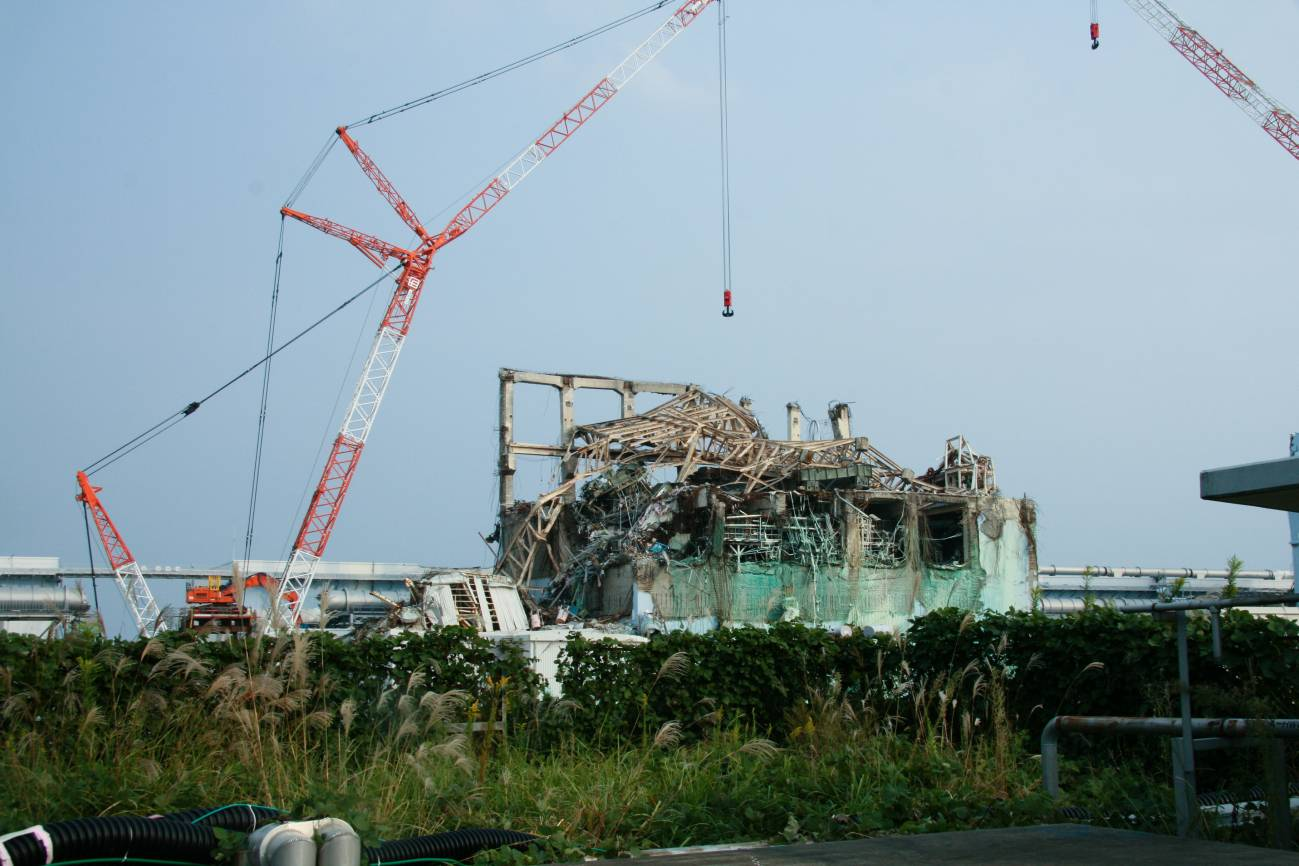 Central de Fukushima tras el tsunami de marzo de 2011