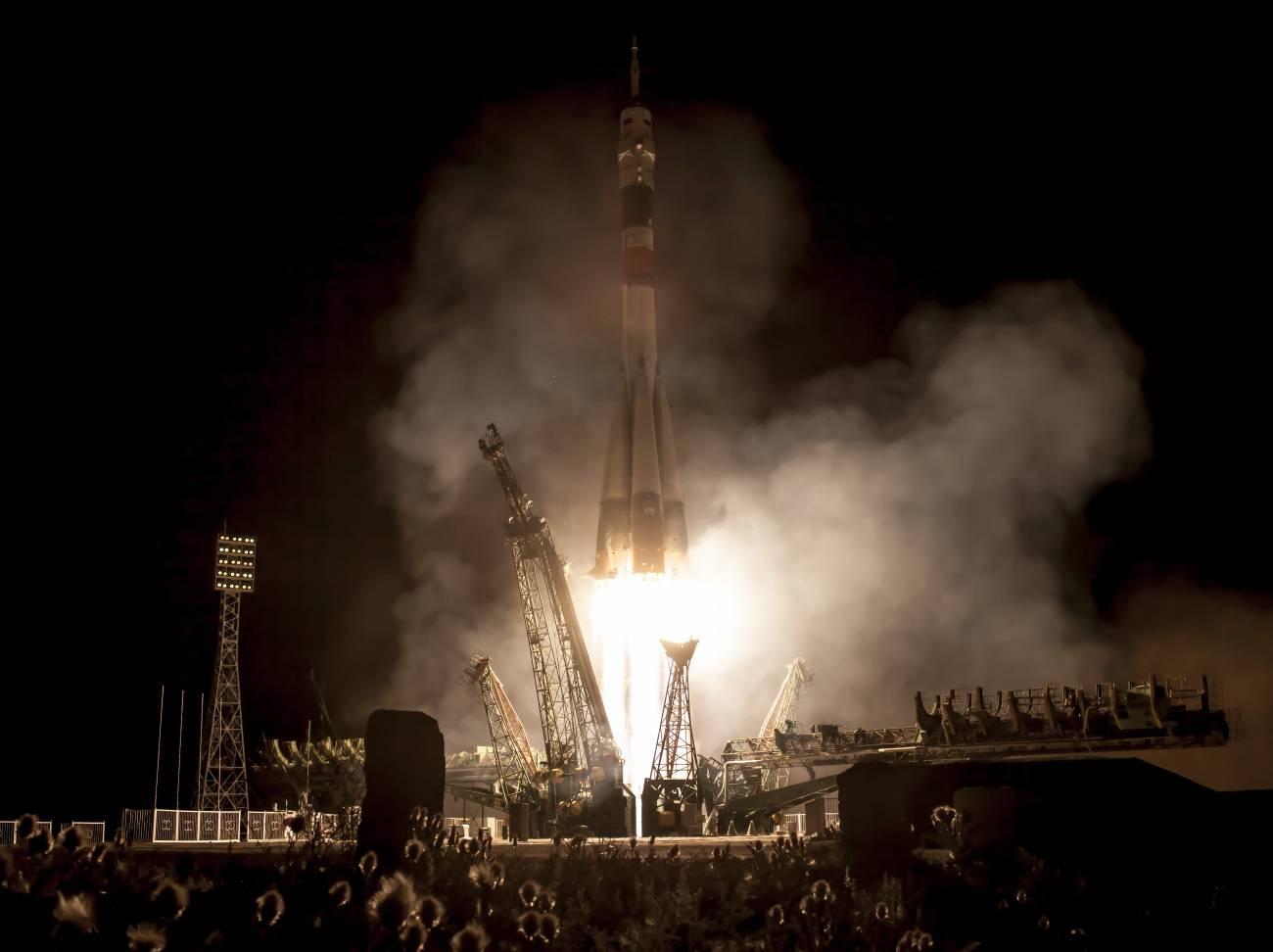 La nave Soyuz en el momento del despegue. / NASA