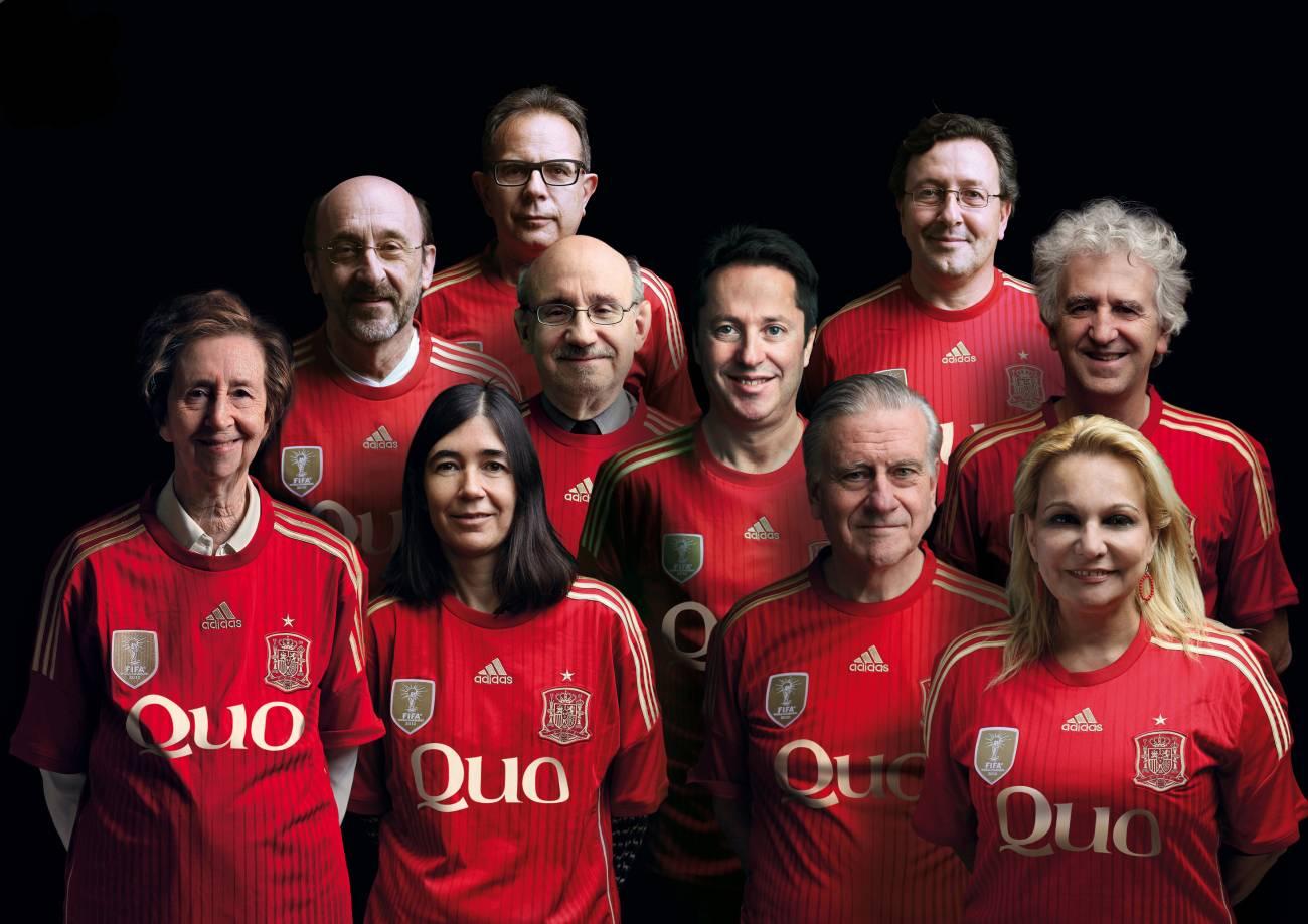 Diez de los 13 'jugadores' de la primera selección española de ciencia. / Quo