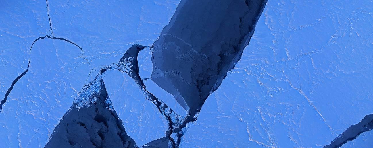 Un mosaico de imágenes del hielo marino en la cuenca canadiense, tomada por el Sistema de Cartografía Digital IceBridge el 28 de marzo de 2014. / Digital Mapping System NASA.