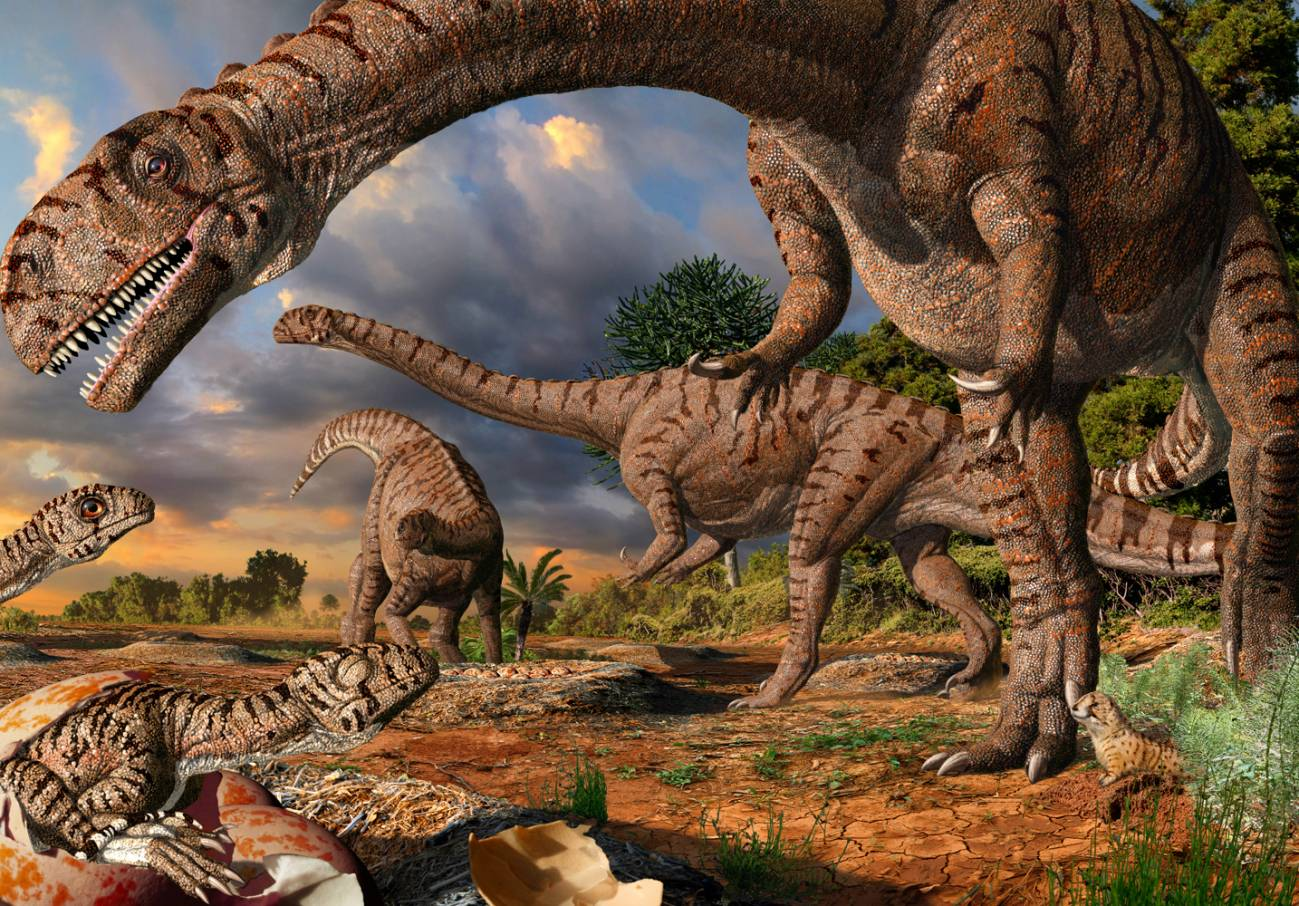 Igual que en los herbívoros modernos, los estómagos de estos dinosaurios debían contener microbios que fermentaban las plantas ingeridas y permitían su digestión.Imagen: Julius Csotonyi