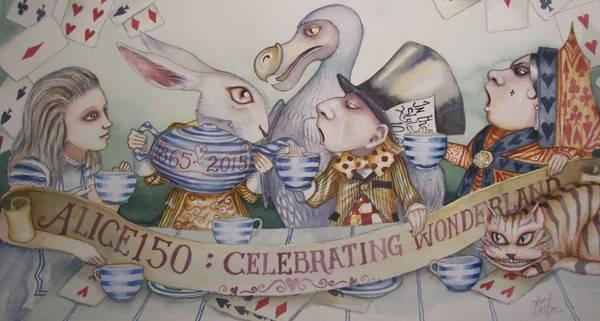 Cartel de la celebración de los 150 años de Alicia./ Dominic Murphy.