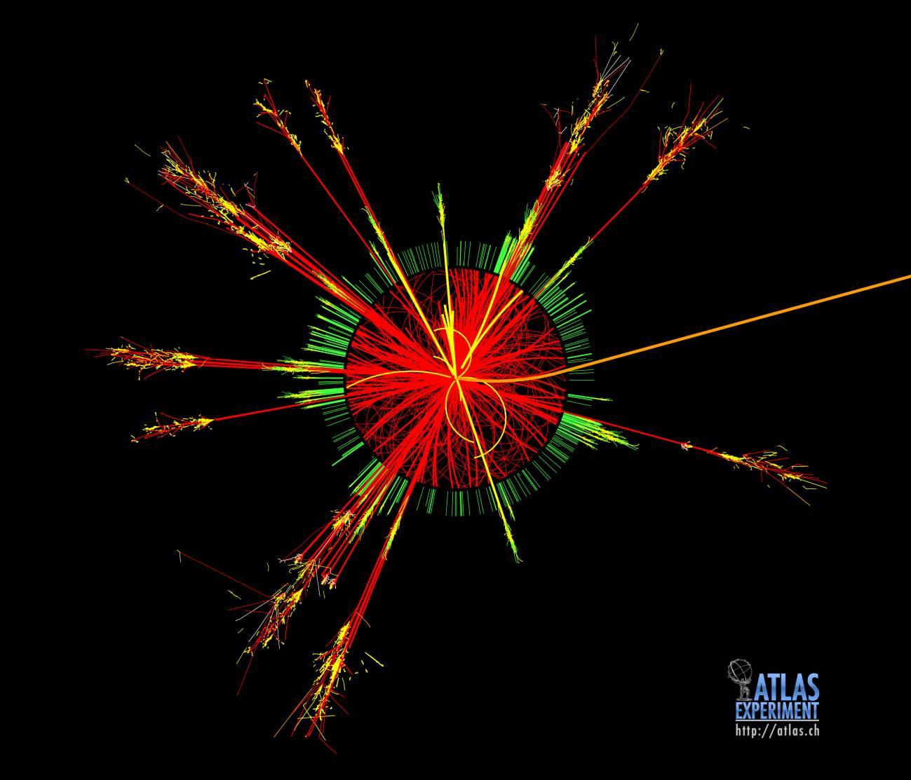 Simulación de un agujero negro en ATLAS