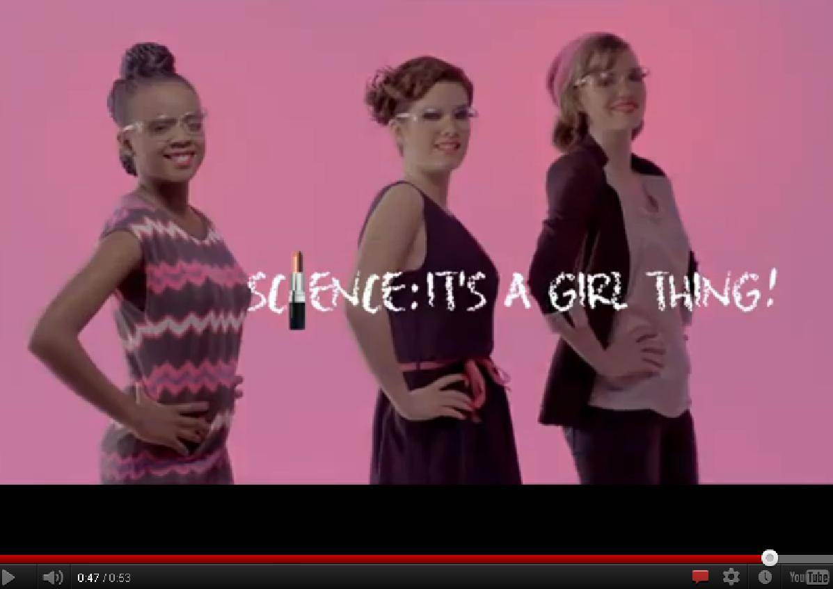 pantallazo de la campaña science it's a girl thing