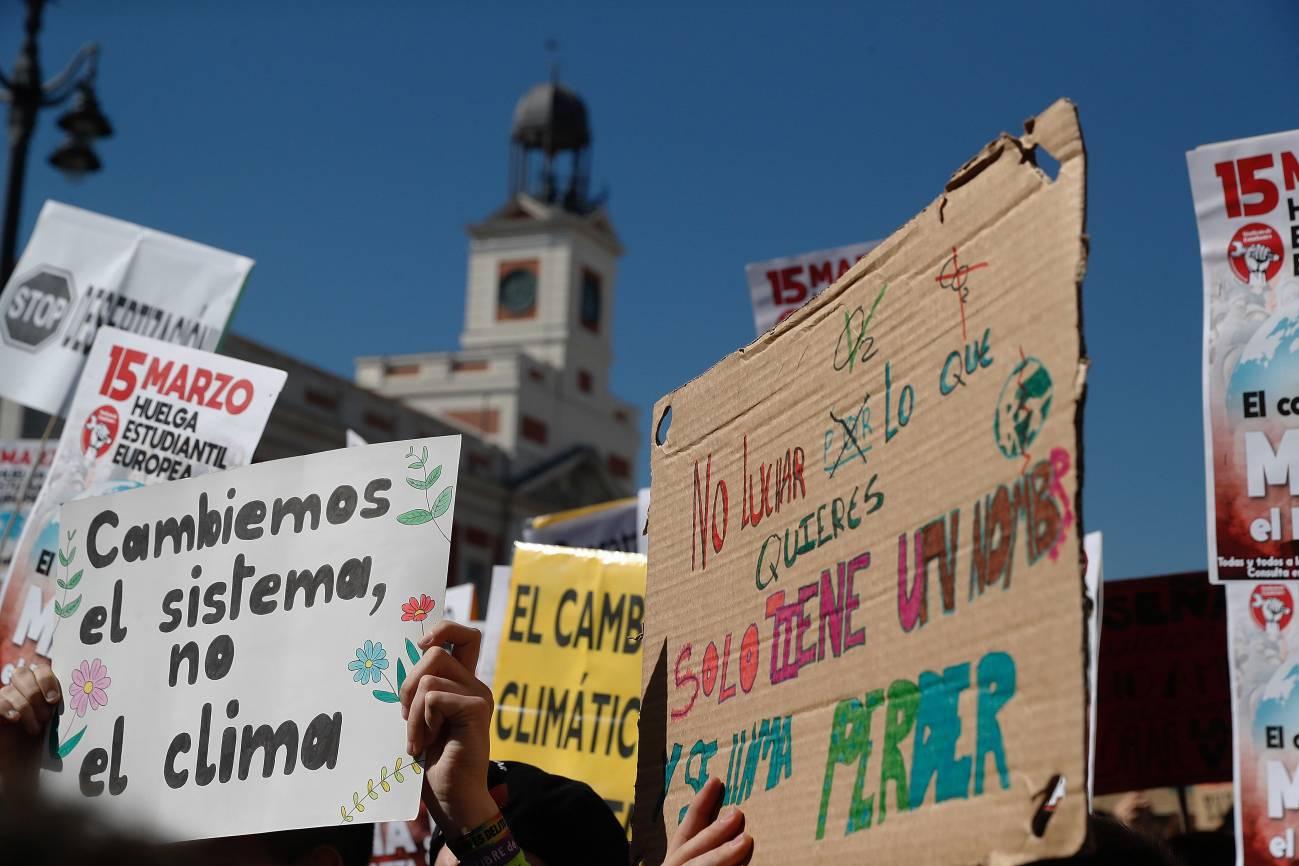 Manifestación de estudiantes por el clima en Madrid