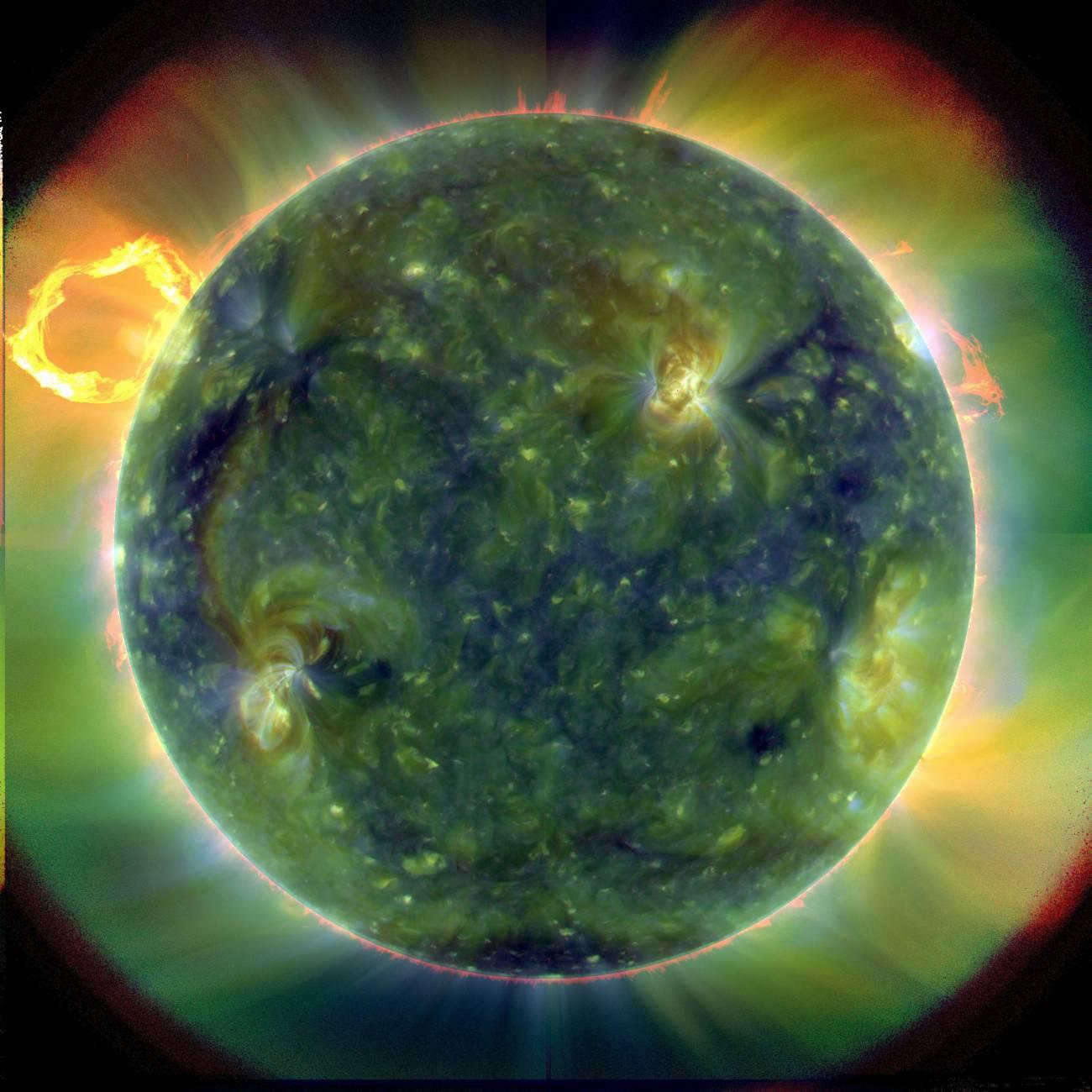 El Sol presenta un ciclo de once años a lo largo del que su actividad magnética. Imagen: NASA
