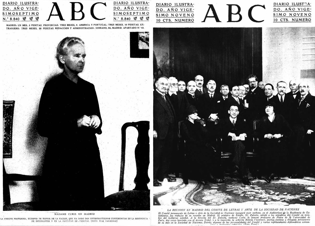 Los viajes de Marie Curie a España (II)