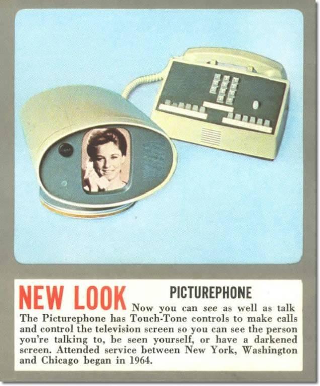 Se cumplen 50 años de la presentación del Picturephone, el primer sistema comercial de videollamadas. / AT&T