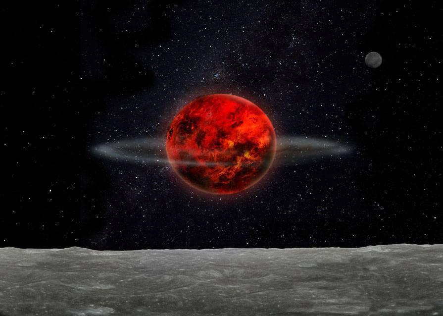 Pequeños cuerpos o planetesimales pudieron interactuar gravitacionalmente con el sistema Tierra-Luna poco después de su formación, y desviar la órbita lunar. / Laetitia Lalila
