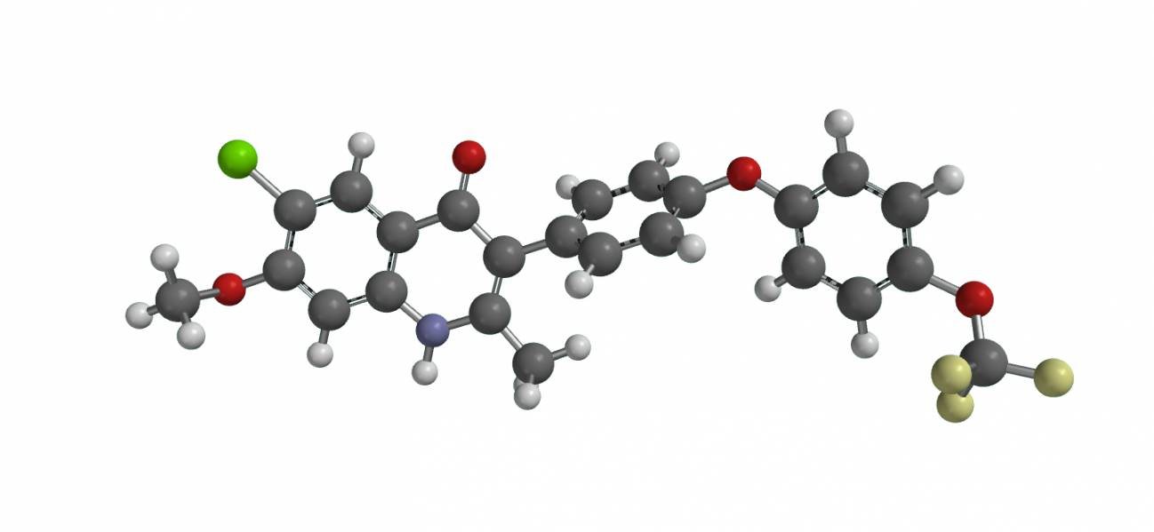 Estructura molecular del nuevo medicamento ELQ-300. / Michael Riscoe