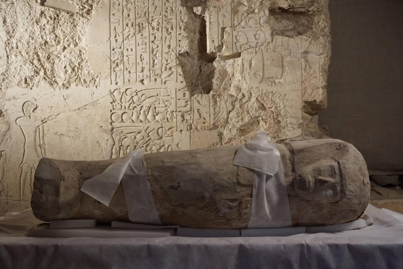 El sarcófago hallado en Luxor. Imagen: CSIC