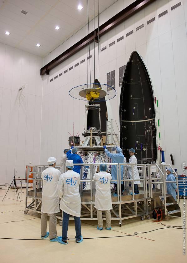 El contratista principal de Vega es la italiana ELV, pero también han participado siete empresas españolas. Imagen: ESA, CNES, Arianespace, Optique Video du CSG, S. Martin.