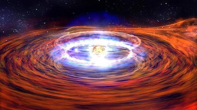 Estrella de neutrones. Imagen: NASA