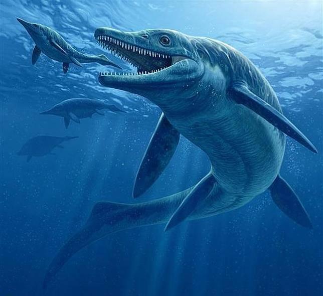 Reconstrucción artística del Thalattoarchon saurophagis. Imagen: Raul Martin   National Geographic.