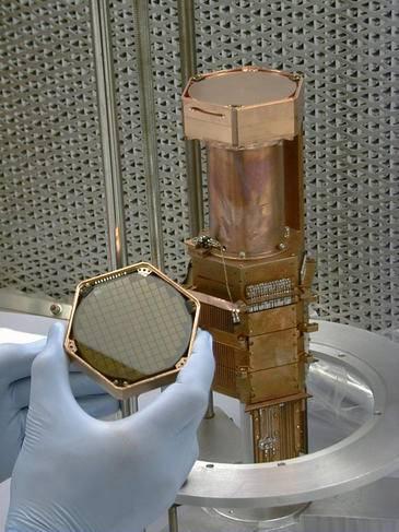Detector de silicio de CDMS.