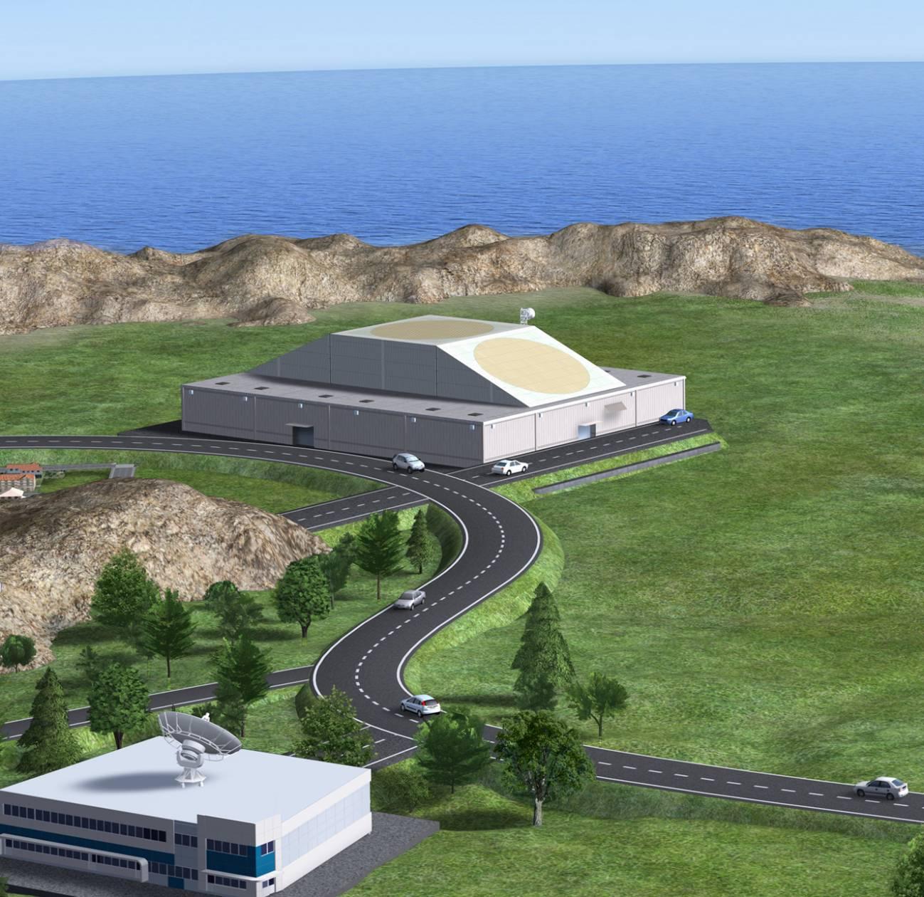 Recreación artística de un posible diseño para los nuevos radares. Imagen: ESA - P. Carrill.