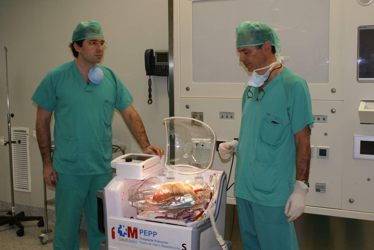 Esta técnica permitirá aumentar la calidad de los pulmones que se trasplanten ya que los órganos pueden evaluarse antes de ser implantados. Imagen:Hospital Puerta de Hierro