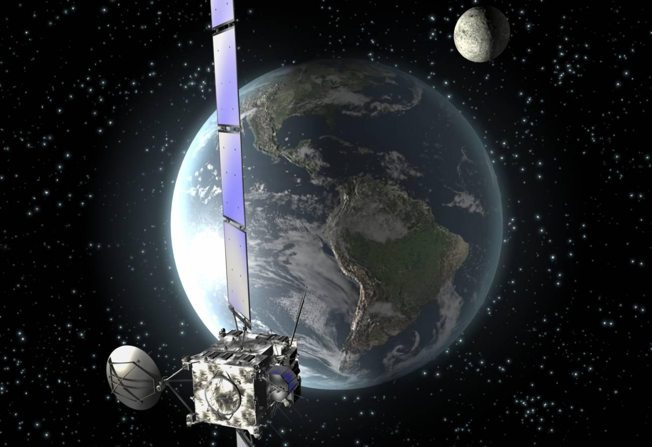 La velocidad de las sondas que sobrevuelan la Tierra para dirigirse a objetivos lejanos varía respecto a los cálculos de los expertos. / ESA/C.Carreau
