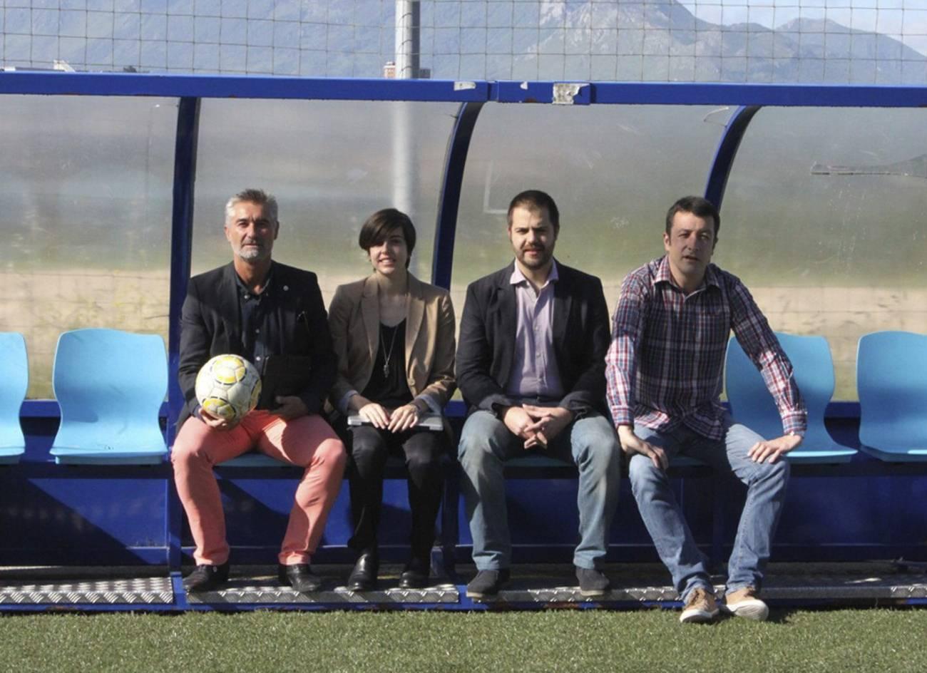 En la imagen, de siquierda a derecha, los socios fundadores: Fernando Díaz Casielles, Hugo Novoa, Irene Fernández y Marcos González../ Efe