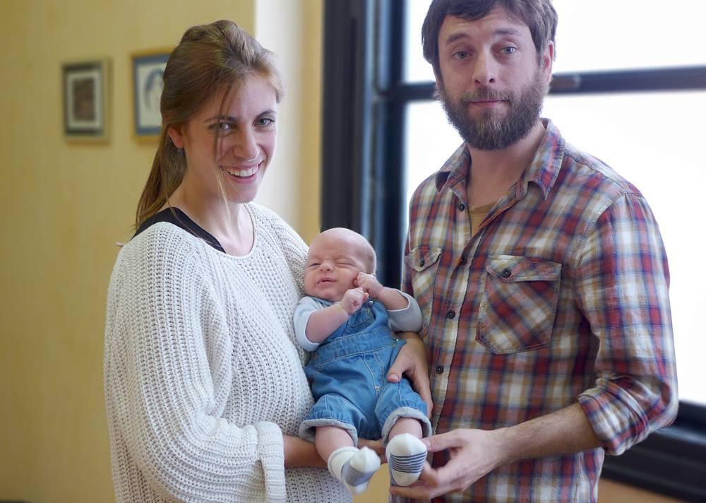 Tras implantarle una válvula aórtica durante el embarazo, Catalina pudo dar a luz sin complicaciones. / VHIR