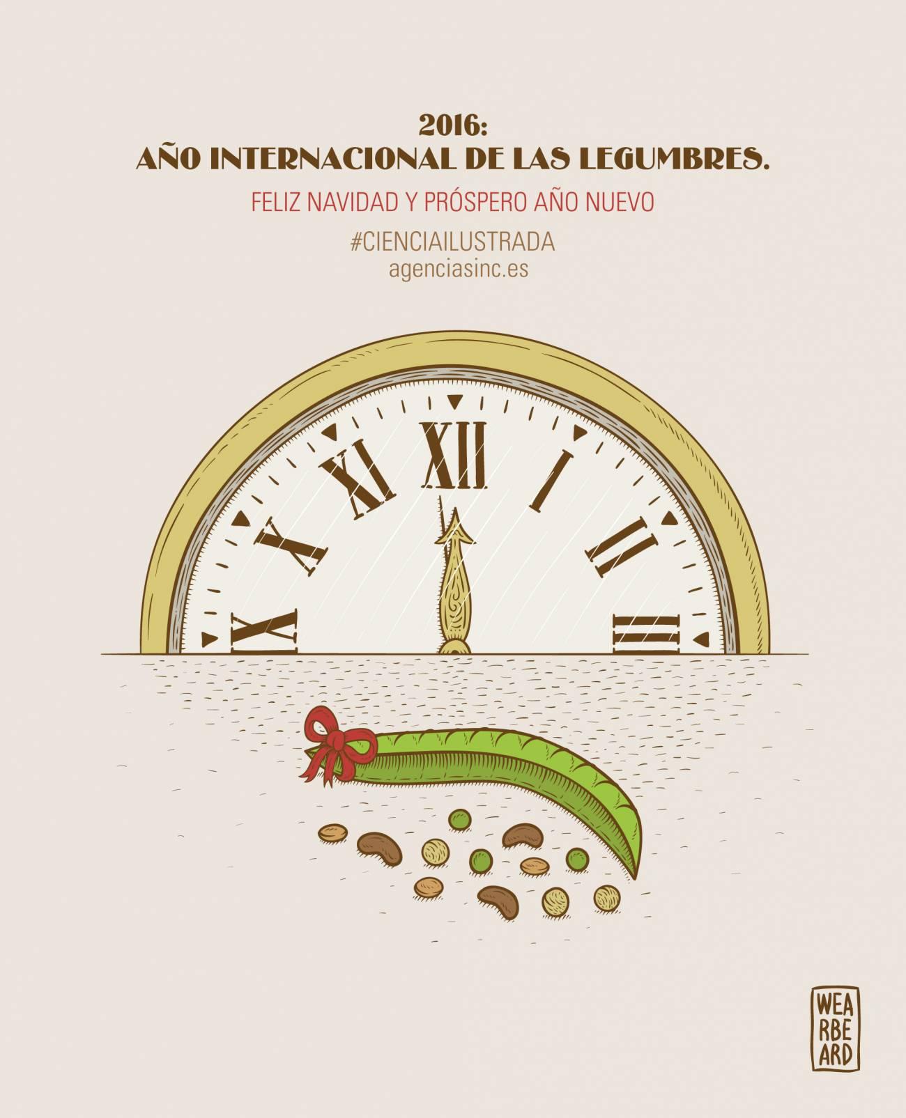 Ilustración Año Internacional de las Legumbres 2016./ Wearbeard