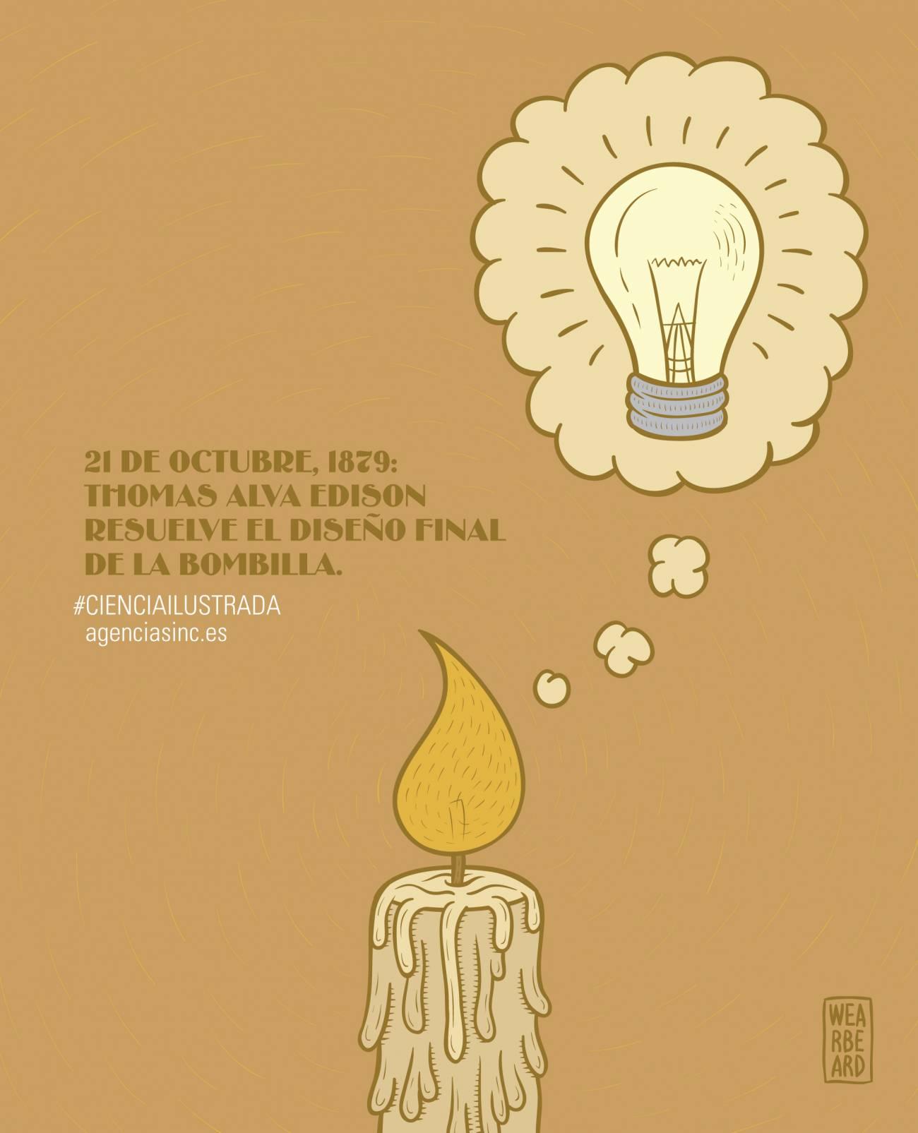 1879: Thomas Edison presenta la bombilla eléctrica. / Sinc