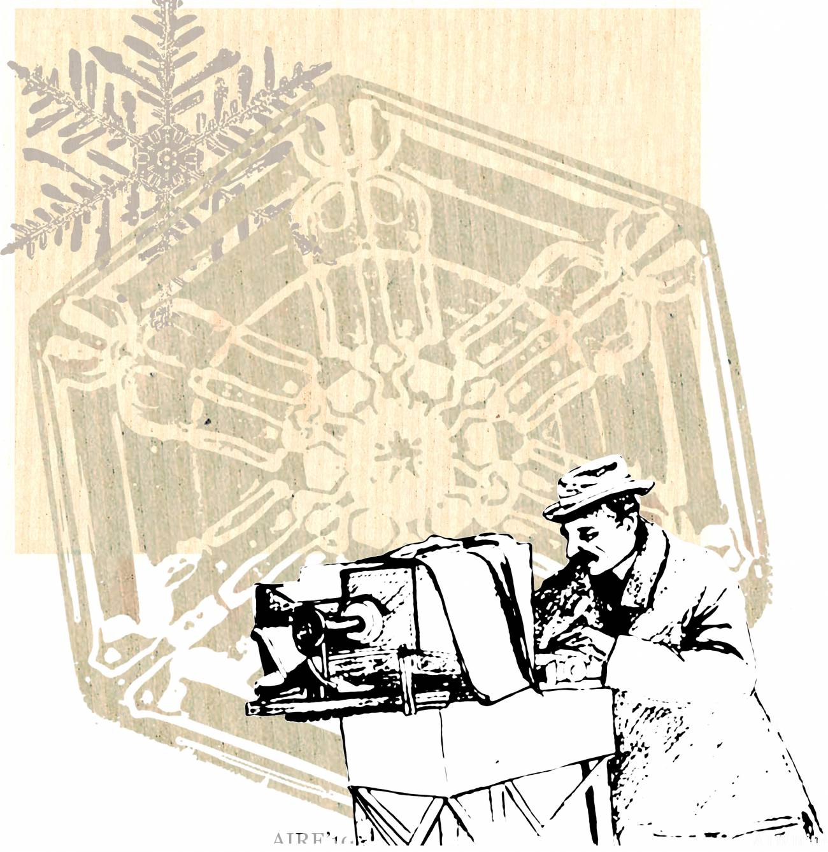El 15 de enero de 1885, Wilson Bentley toma la primera fotografía microscópica de un cristal de nieve