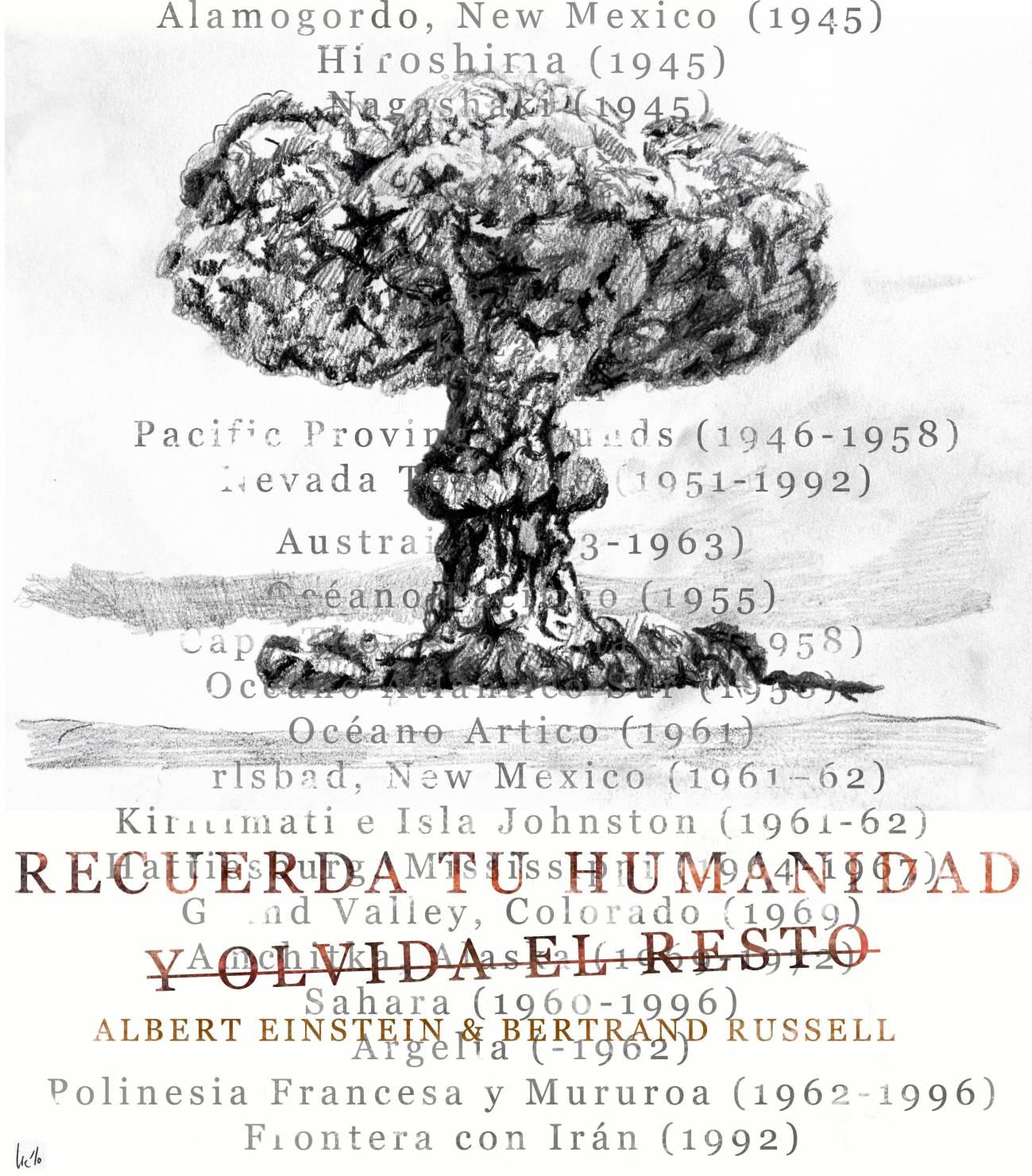El 9 de julio de 1955 el manifiesto Russell-Einstein pide el desarme nuclear