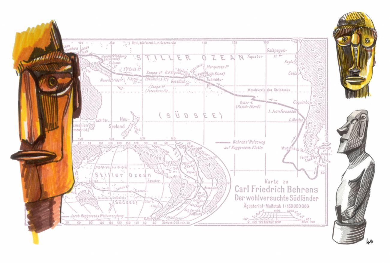 El 5 de abril de 1722 el explorador holandés Jacob Roggeveen descubre la Isla de Pascua