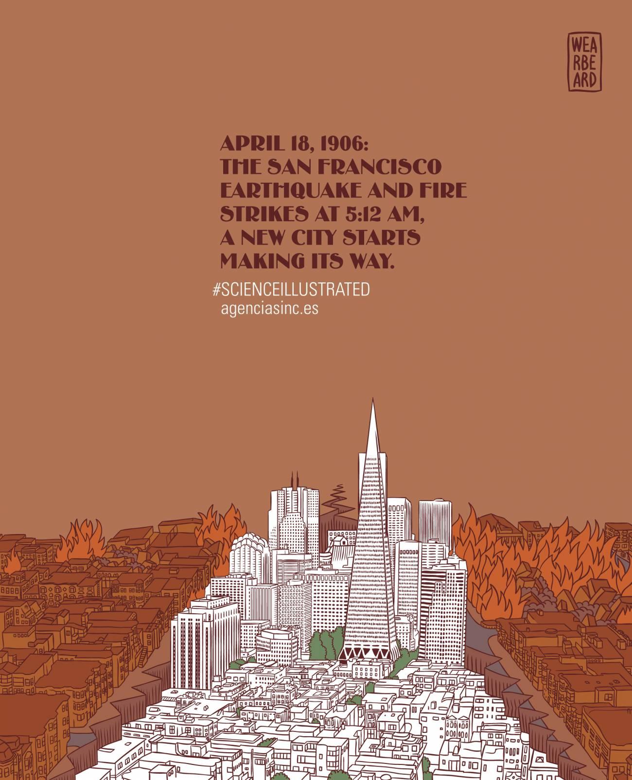 El 18 de abril de 1906, un gran terremoto golpea la ciudad de San Francisco.
