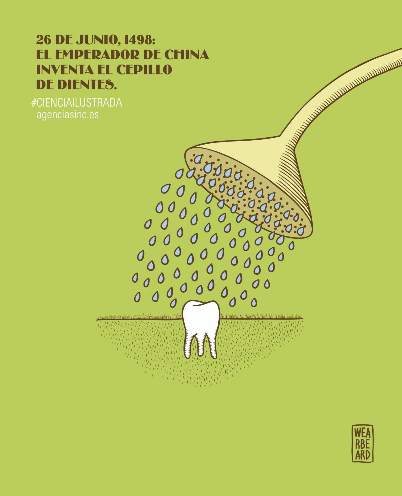 En 1498 un emperador chino inventa el cepillo de dientes.