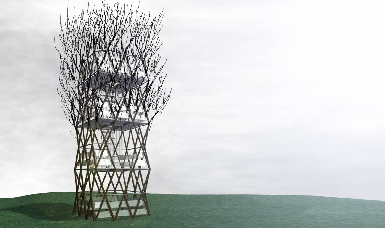 La torre, cuando termine el proceso de construcción.