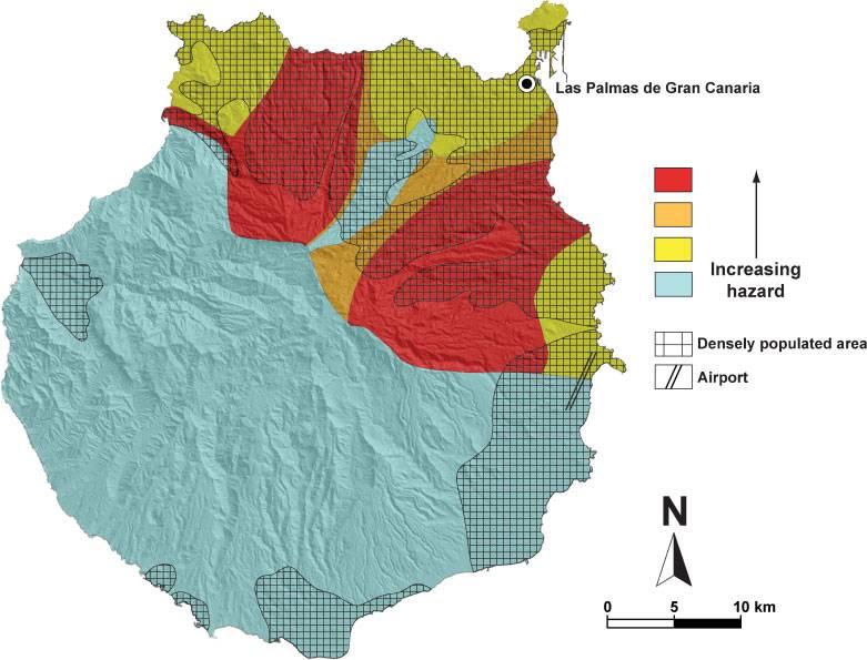Presentan un mapa de peligrosidad volcánica de la isla de Gran Canaria