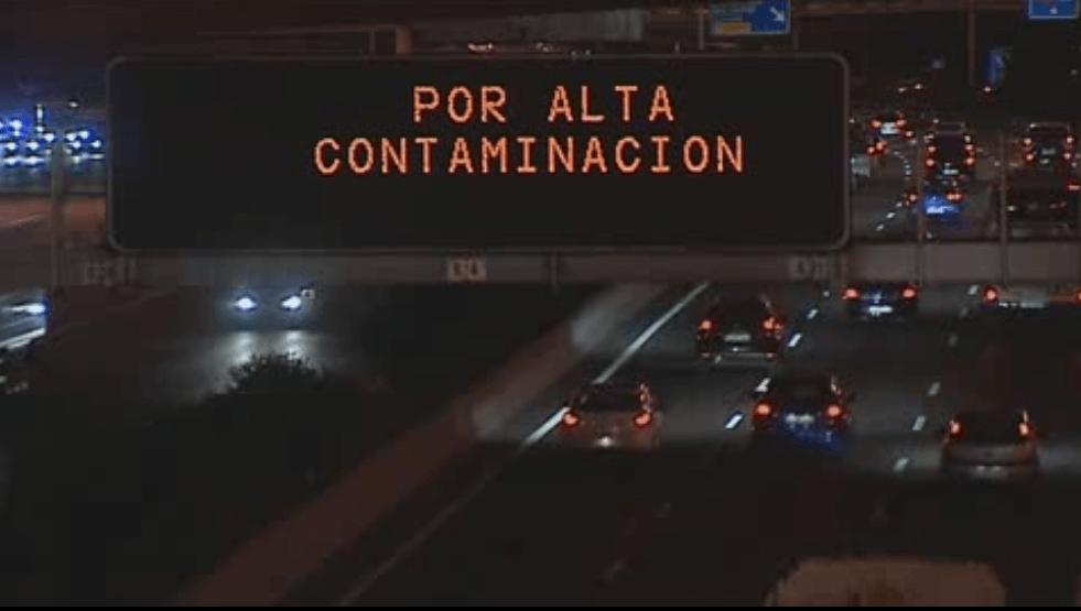 A menos de 70 km/h en Madrid para reducir la contaminación