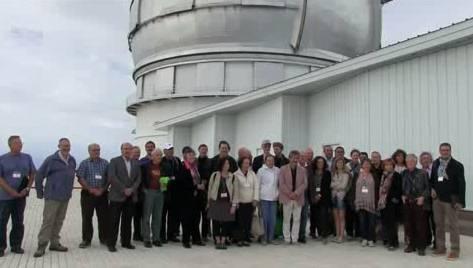 Astrofísicos y astronautas visitan el Gran Telescopio Canarias.