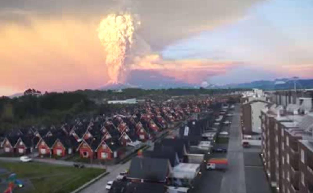 Imagen de la erupción