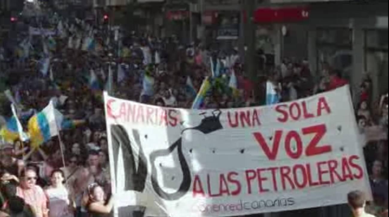 Manifestación contra las prospecciones.