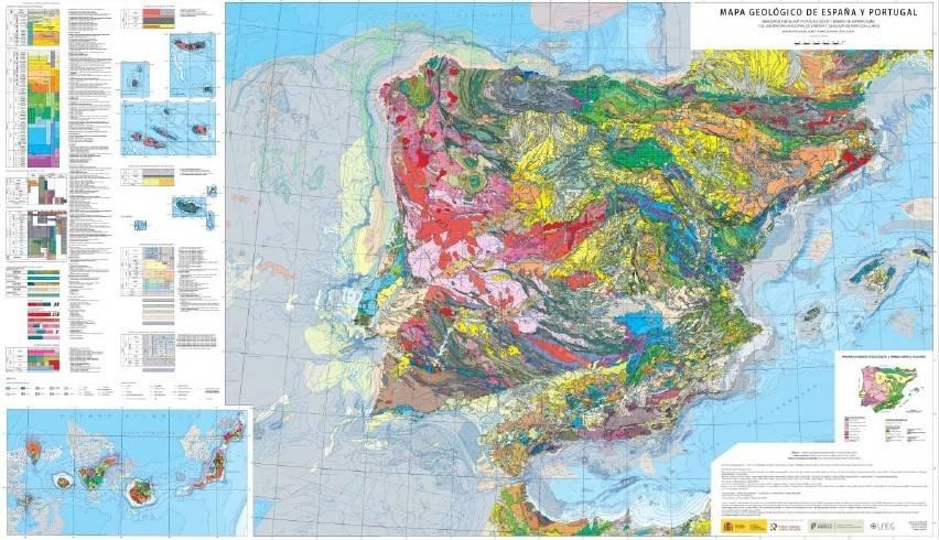 El IGME elabora el primer mapa geológico de España