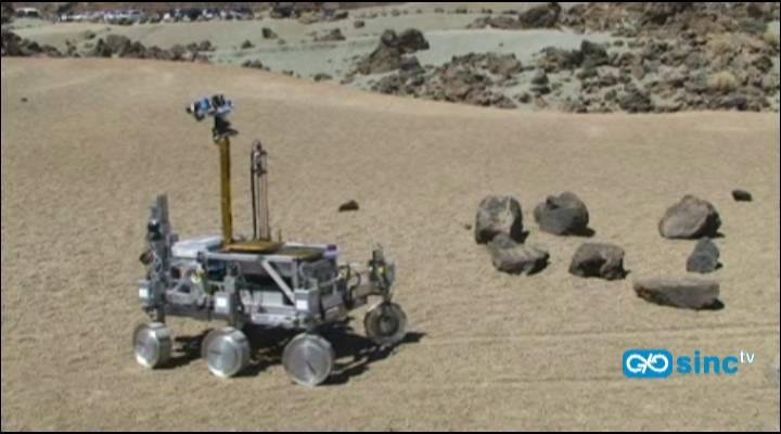 El robot 'rover Bridget' ensaya en El Teide