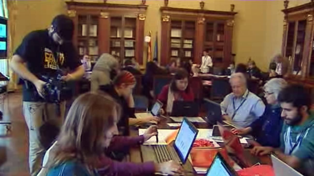 Editaton celebrada en la Biblioteca Nacional.