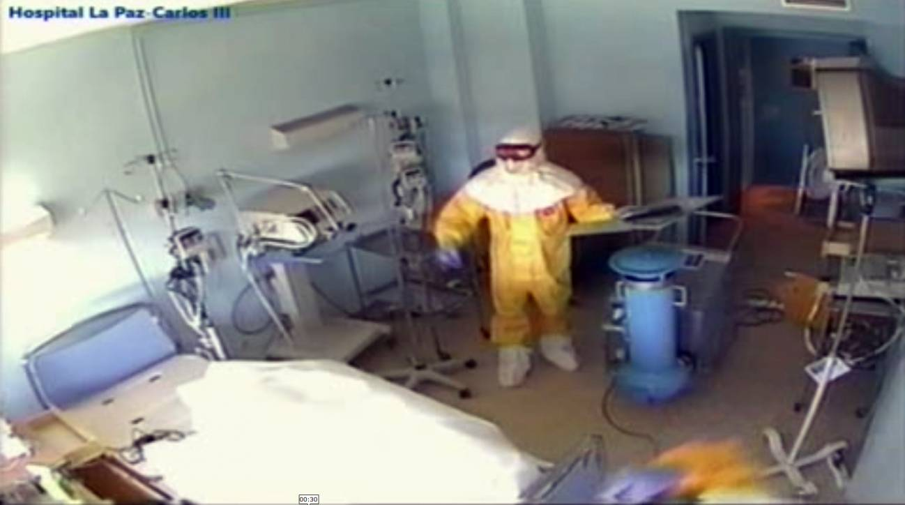 La enfermera contagiada de ébola, aislada en el Hospital Carlos III.