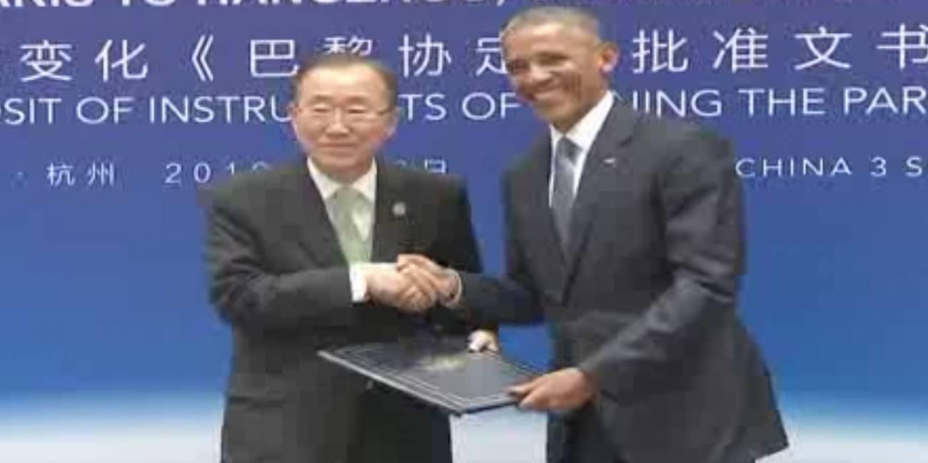 Obama y Xi ratifican juntos el pacto de París