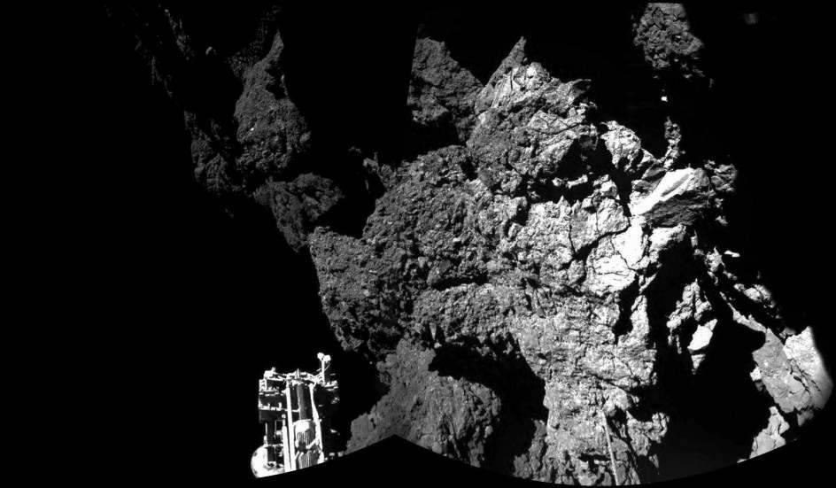 Philae se echa a dormir sobre la superficie del cometa