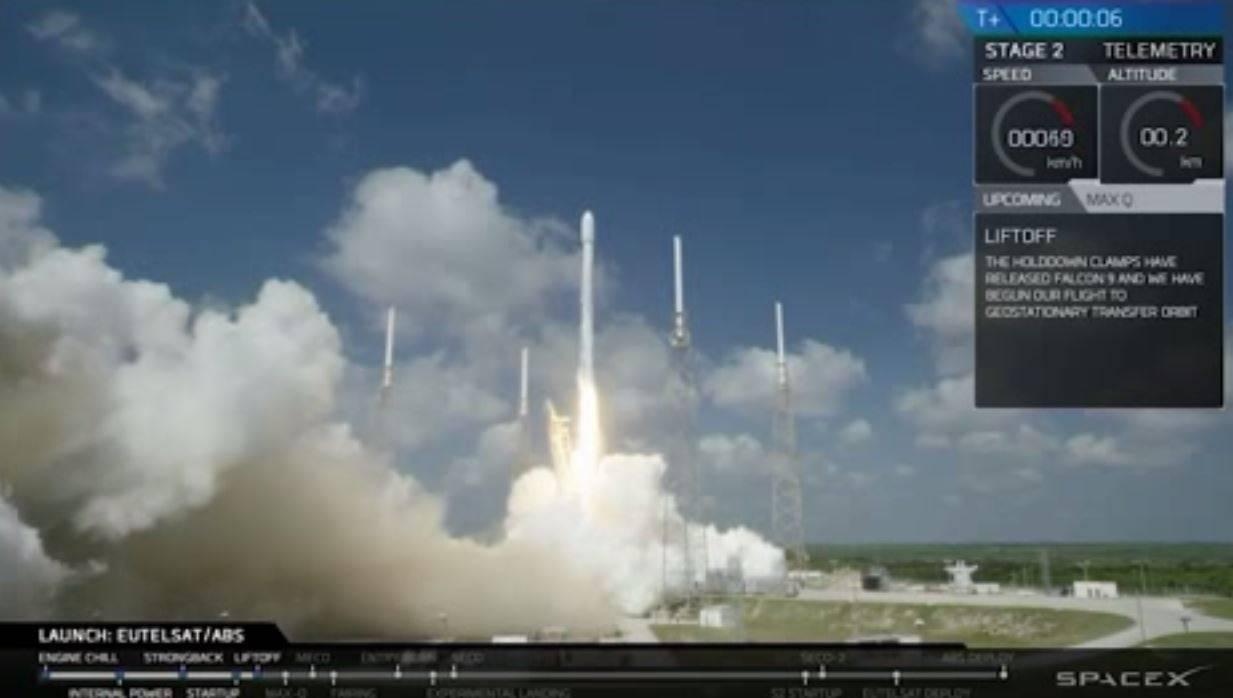 SpaceX pone en órbita dos nuevos satélites de comunicación