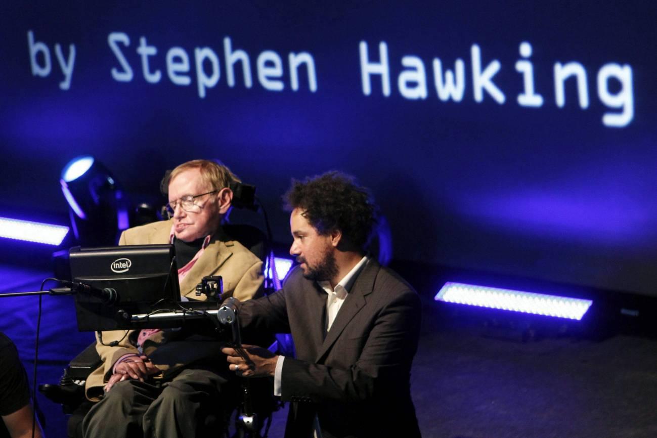 Stephen Hawking en el Starmus.